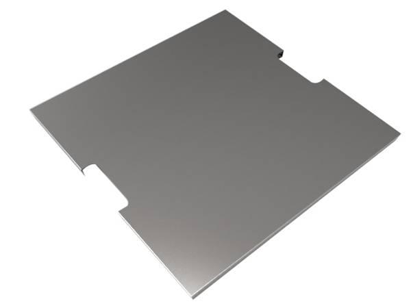 Bilde av Rustfrit ståldæksel til firkantet brænder